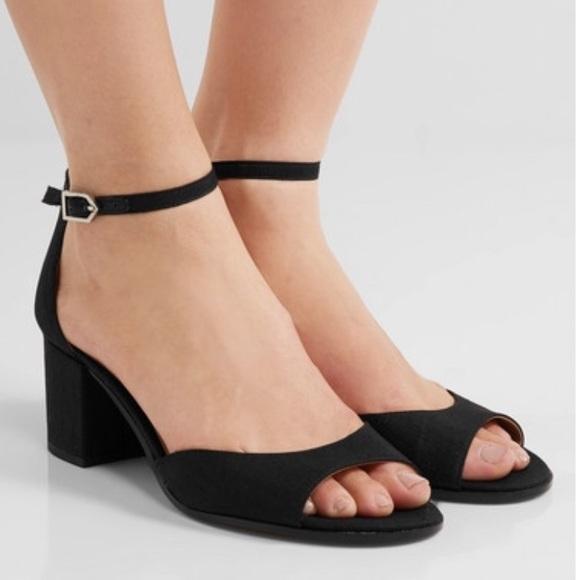 9862ba484fe7ef Sam Edelman Black Susie Ankle Strap Sandal Heels. M 5b16bd9ca5d7c683766ba3cb